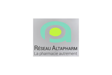 "logo du groupement de pharmacies ""Altapharm"""
