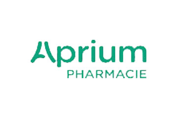 "logo du groupement de pharmacies ""Aprium"""