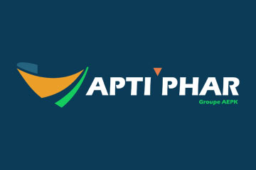 "logo du groupement de pharmacies ""Aptiphar"""