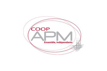 """logo du groupement de pharmacies """"Coopérative APM"""""""