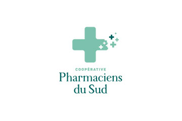 "logo du groupement de pharmacies ""Coopérative des pharmaciens du Sud"""