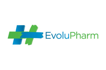 "logo du groupement de pharmacies ""Evolupharm"""