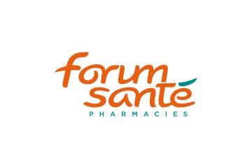 """logo du groupement de pharmacies """"Forum Santé"""""""