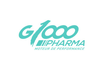 "logo du groupement de pharmacies ""G 1000 Pharma"""