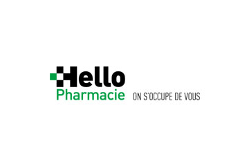 "logo du groupement de pharmacies ""Hello Pharmacie"""