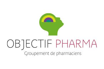 "logo du groupement de pharmacies ""Objectif Pharma"""