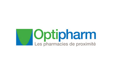 "logo du groupement de pharmacies ""Optipharm"""